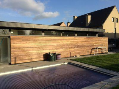 Houten gevelbekleding Poolhouse Sint Pauwels (2)