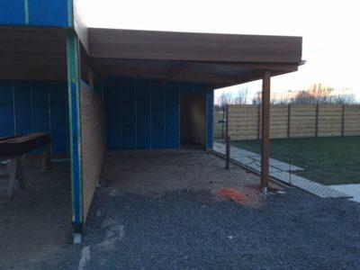 Plaatsen van dubbele carport